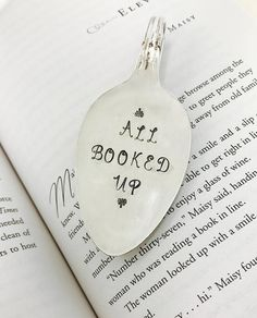 Bookmark All Booked Up Gift For Book Lover Reader