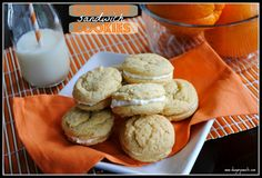 Orange Sandwich Cookies