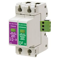 A1SPM/6/230NR - 6kA Single Phase with Neutral/Earth & Remote Connector - Type 2 Test Class II - This modular #surgeprotection #device provides #protection of equipment connected to incoming low voltage AC power supplies against the damaging effects of transient over voltages caused by local #lightning strikes, or the switching of electrical inductive or capacitive loads.
