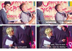 draco uses the chamber of secrets threat to further his campaign