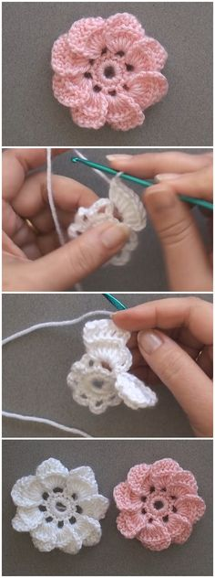 buggritphooey:Just Pinned to Crochet: Crochet 8 Petal Flower.-buggritphooey:Just Pinned to Crochet: Crochet 8 Petal Flower… (Mingky Tinky Tiger + the Biddle Diddle Dee) buggritphooey:Just Pinned to Crochet: Crochet 8 Petal Flower… - Crochet Puff Flower, Crochet Flower Tutorial, Crochet Flowers, Crochet Baby, Crochet Granny, Diy Flowers, Crochet Crafts, Yarn Crafts, Crochet Projects