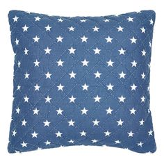 GreenGate Quilted Cushion Star Indigo 50 x 50 cm Indigo, Country Chic, Spring, Shabby, Cushions, Cottage, Throw Pillows, Stars, Blue