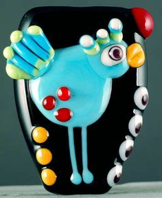 Laurie Geller Handmade Lampwork Bead Blackbird SRA | eBay
