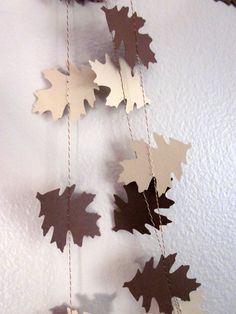 Leaves Paper Garland  Autumn Garland  Thanksgiving by ArtsDelight, $10.50