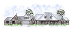 Country   Farmhouse  Ranch   Traditional   House Plan 53904