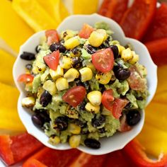Guacamole is so much better when it's loaded with smoky corn, juicy ...