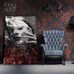 🅴🆅🅰🆂🅰🆁🆃 (@evas_art_it) • Foto e video di Instagram Art It, Wingback Chair, Video, Contemporary Art, Accent Chairs, Furniture, Instagram, Home Decor, Upholstered Chairs
