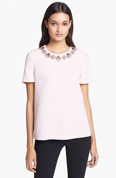 kate spade new york 'alexandria' embellished top