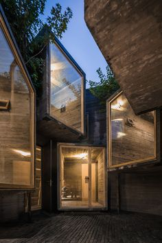 The goal of this project, a 30 sqm hostel, is to search for possibilities of creating ultra-small scale social housing within the limitations of super-tight traditional hutong spaces of Beijing. The result is an architectural operation that brings bac