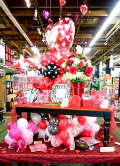 Gift shop displays, store window displays, florist window display, flower s Gift Shop Displays, Store Window Displays, Florist Window Display, Candy Bouquet, Shop Plans, Valentines Day, Gifts, Shop Ideas, Retail Merchandising
