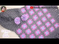 [Crochet] [Part years old Girls' Poncho Girls Poncho, Hooded Poncho, Crochet Poncho, Homemade Crafts, 12 Year Old, Hoods, Make It Yourself, Children, Pattern