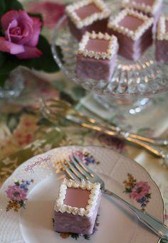 Pretty lavender petit fours