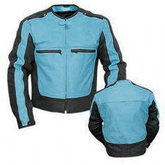 Clothing, Shoes & Accessories Men Genuine Black Leather Motorcycle Jacket Size 6 Xl Jade White Motorcycle Street Gear