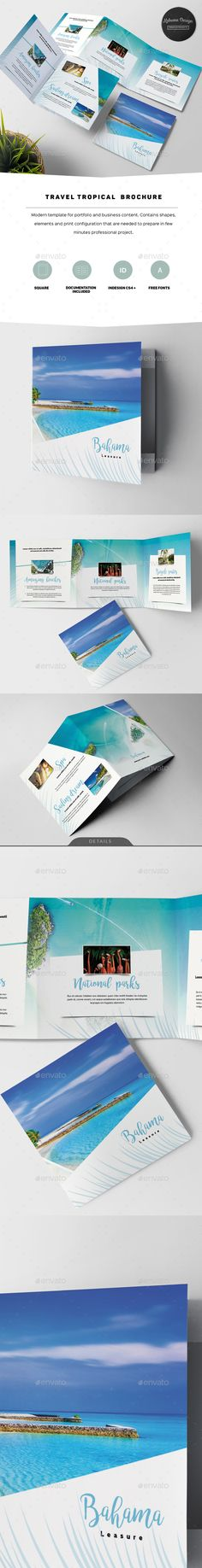Travel Tropical Brochure — InDesign INDD #accommodation #information • Download ➝ https://graphicriver.net/item/travel-tropical-brochure/20351742?ref=pxcr