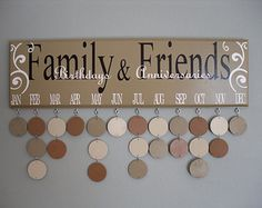 Magda's Wednesday Wish List – Family and Friends Celebration Board Birthday Reminder Board, Birthday Calendar Board, Family Birthday Board, Vinyl Crafts, Diy Arts And Crafts, Crafts To Make, Wood Crafts, Family Calendar, Diy Calendar