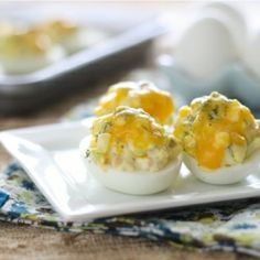 Ham & Cheese Melt Deviled Eggs