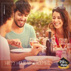 Está na hora de relaxar depois de uma semana intensa de trabalho. Afinal, você merece né? Convide os seus amigos para um happy hour na Pão&Mais.