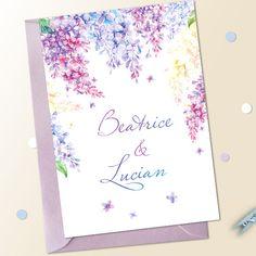 Invitatii nunta liliac Liliac, Wedding, Casamento, Weddings, Marriage, Mariage