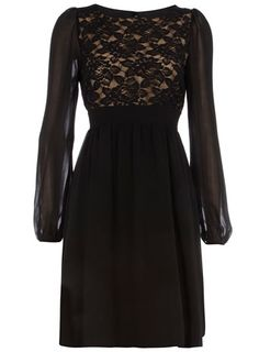 Love this Dorothy Perkins blk lace chiffon dress for only $29, get it here http://rstyle.me/h4byrbmtu6