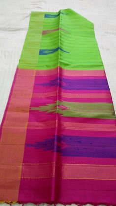 Jute pure silk temple border sarees with contrast pallu & blouse