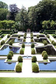 Water Parterre of the Oheka Estate