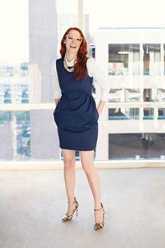 Vestido azul marino zappos outlet