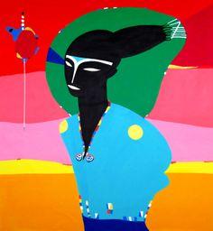 "Rimon Guimarães ""Astronauta em Klepter acrylic on canvas 2012."