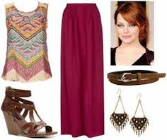 long skirt fall outfits