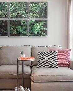 Quando a parede verde vem nos quadros {} Linda composição para essa sala { Projeto ZAI Arquitetura } . . . #homeDecor #projetos #decoração #interiores #arquitetura #decor #arquiteturadecoracao #interiordesign #blogalmocodesexta #grupodecordigital #olioliteam