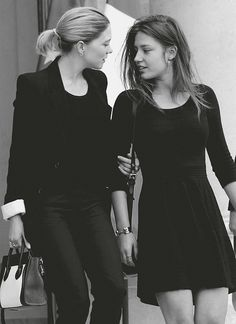 Lea Seydoux & Adele Exarchopoulos... my fave artists, perfect actors as lesbians :)