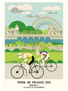 Stage 7, Le Mans to Chateauroux, Tour de France Prints by Neil Stevens