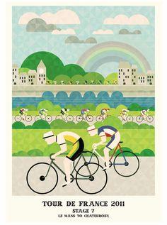 illustration tour france 2011 07 Le Tour de France 2011 illustré  design bonus
