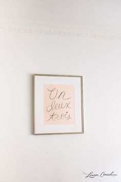 beginning stages of a gallery wall {by laurenconrad.com}