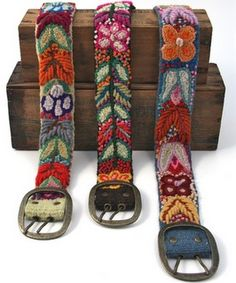 handmade belt with embroidery