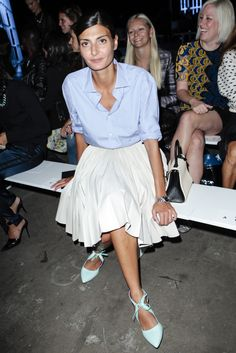 Giovanna Battaglia #fullskirt with button down