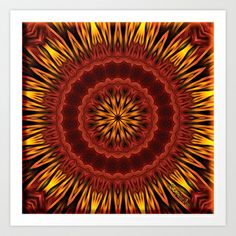 """Thank you Society6, I am honoured! :-)  My Print """"Mandala of Surya the Sun God """" has been selected to be included in the Society6 Shop!    http://society6.com/product/Mandala-of-Surya-the-Sun-God_Print  Mandala of Surya the Sun God  Art Print by Giada Rossi - $22.88"""