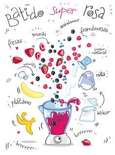 Restaurante Vegano Vegetariano Km.0 de San Sebastián   Recetas ilustradas de batidos by Cartoon and Cooking