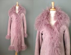 Vintage Violet Sheepskin and Mongolian Lamb by OffBroadwayVintage, $185.00