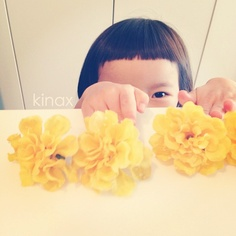 "*  She mimicked Mei of Totoro and said, ""Mommy is the florist""  *  今日はトトロ鑑賞中  大人しく観てたのでキッチンに立ってたら  「まま、おはなしゃんねー」って真似してたよ(♡´∀`♡)  *  #親バカ部 #children #kids #ぱっつん - @kinax- #webstagram"