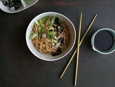 These noodles are stupid easy to make. Great on their own, they also happen to be the perfect vehicle for pretty much any raw or cooked veggie.