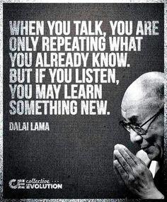 """Listen, listen, listen and then learn! Remember the ""L""!"" ~Nikitta@CentricQuest"