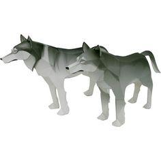 Wolf,Tiere,Papiermodelle,Säugetiere,Wolf,Tiere,Fleischfresser,Papiermodelle,Hund