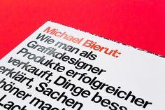 Michael Bierut: Wie man als Grafikdesigner Produkte erfolgreicher verkauft, Dinge besser erklärt ... | Slanted - Typo Weblog und Magazin