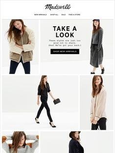 Avoid FOMO Madewell 'New Arrivals' Email Newsletter Design