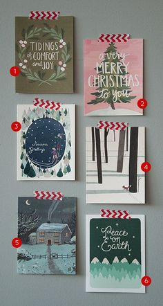Greencards for the holidays on @Design*Sponge