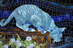 Click through for 13 gorgeous cat mosaics
