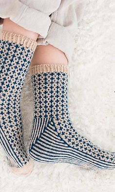 Crazy patterned socks to keep your feet warm on a cold day