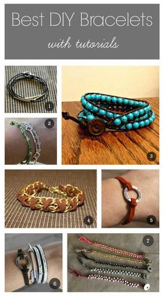 Over 15 Diy Bracelet Tutorials With Step By Step Instructions To Make Today's Most Stylish Looks Including Wrap Bracelet, Leather Bracelet, Arrow, Metal Stamped, T-Shirt Bracelets And Diy Leather Bracelet, Beaded Wrap Bracelets, Bracelet Cuir, Diy Bracelets Metal, Washer Bracelet, Thread Bracelets, Leather Cord, Jewelry Crafts, Handmade Jewelry