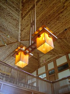 stained glass chandeliers - designed by Frank Lloyd Wright
