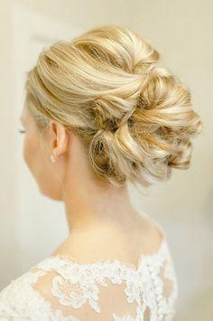 Twisted bridal updo